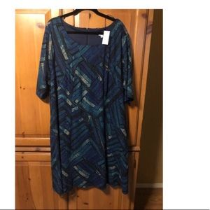 Avenue dress knee length. Green and blues. New